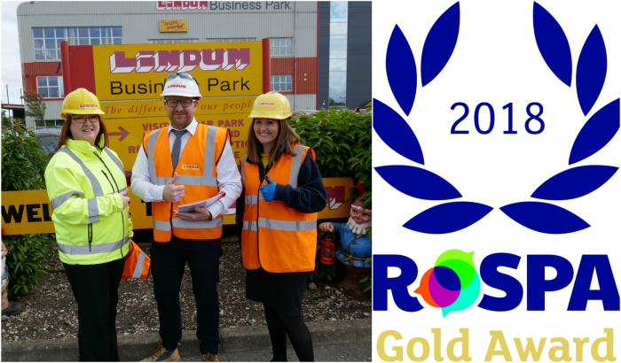 Lindum earns Gold Award for excellence in Health and Safety