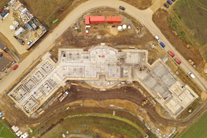 Drone images of on-going work in Whittlesey