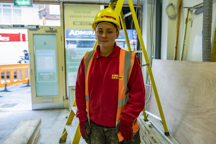 Site joiner Katie is building a future through apprenticeships