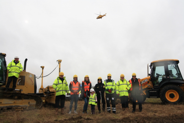 Work starts on new home for Air Ambulance