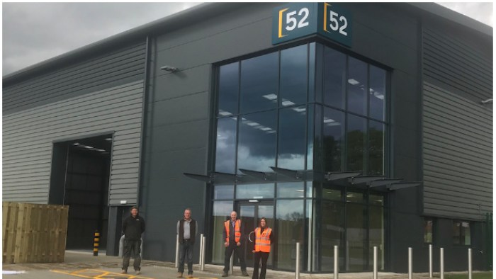Tile company moves from London to new warehouse built by Lindum in Yorkshire