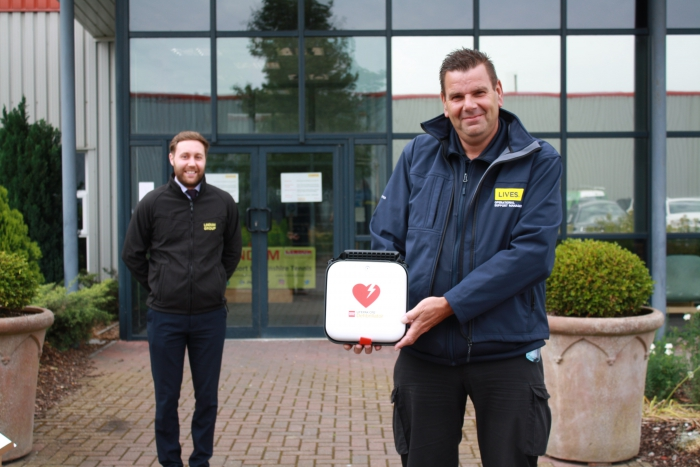 Vital defibrillator donated to first responders