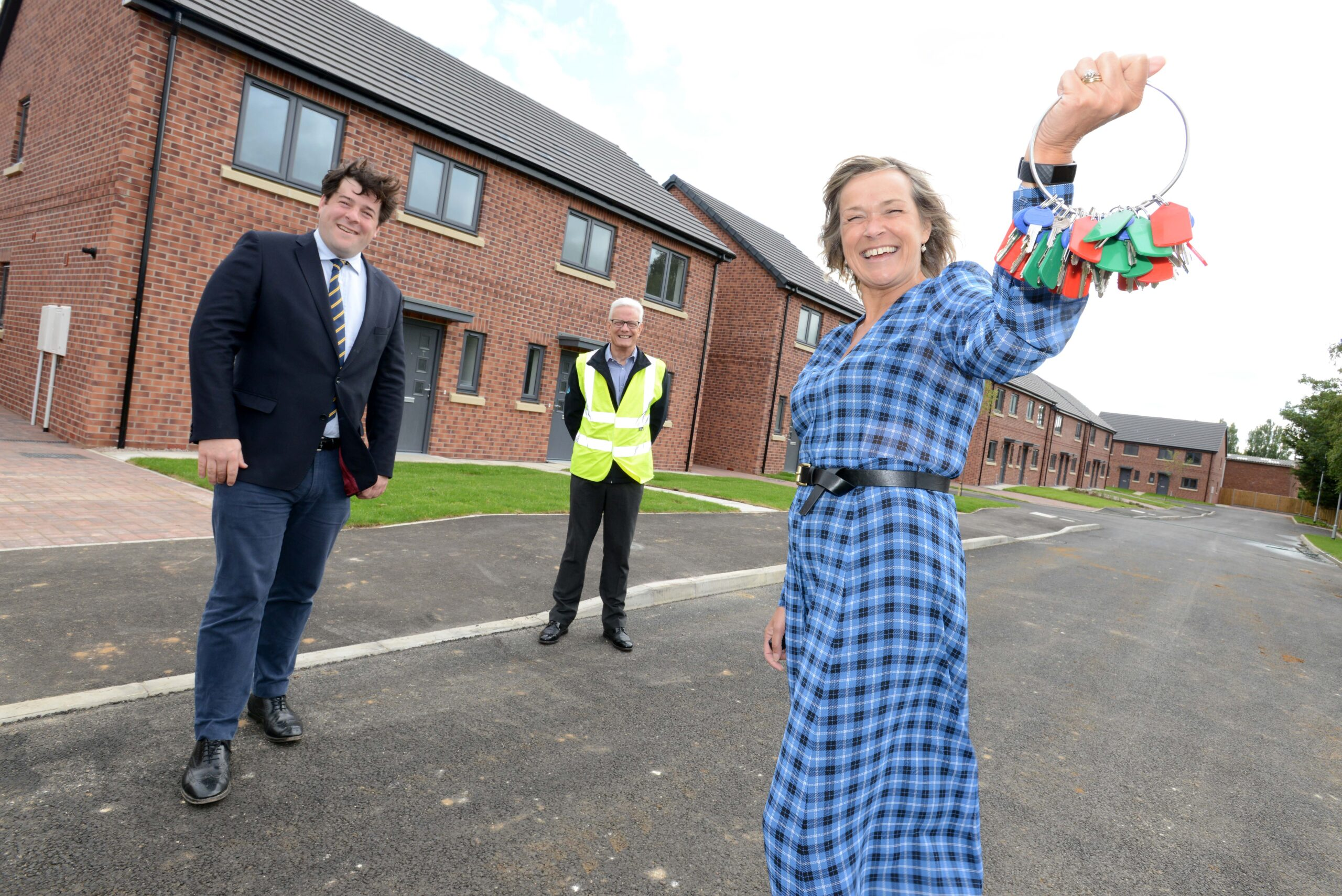 Work has been completed on 36 new homes on a famous site in Lincoln.