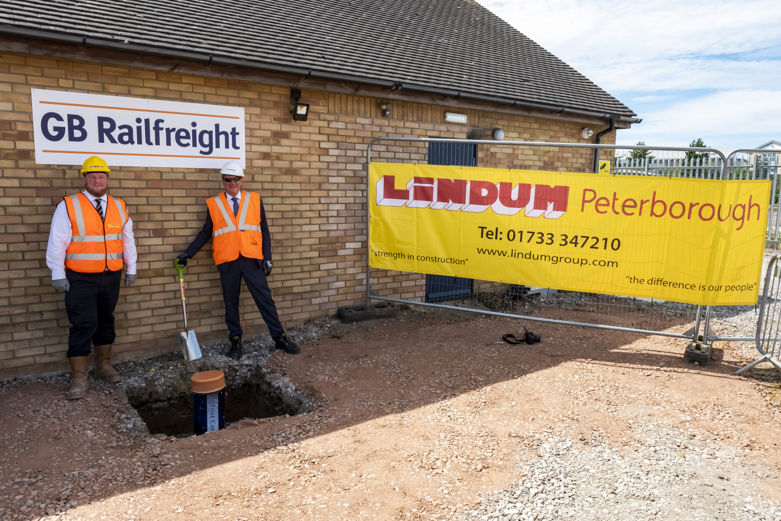 Lindum buries time capsule at Peterborough site