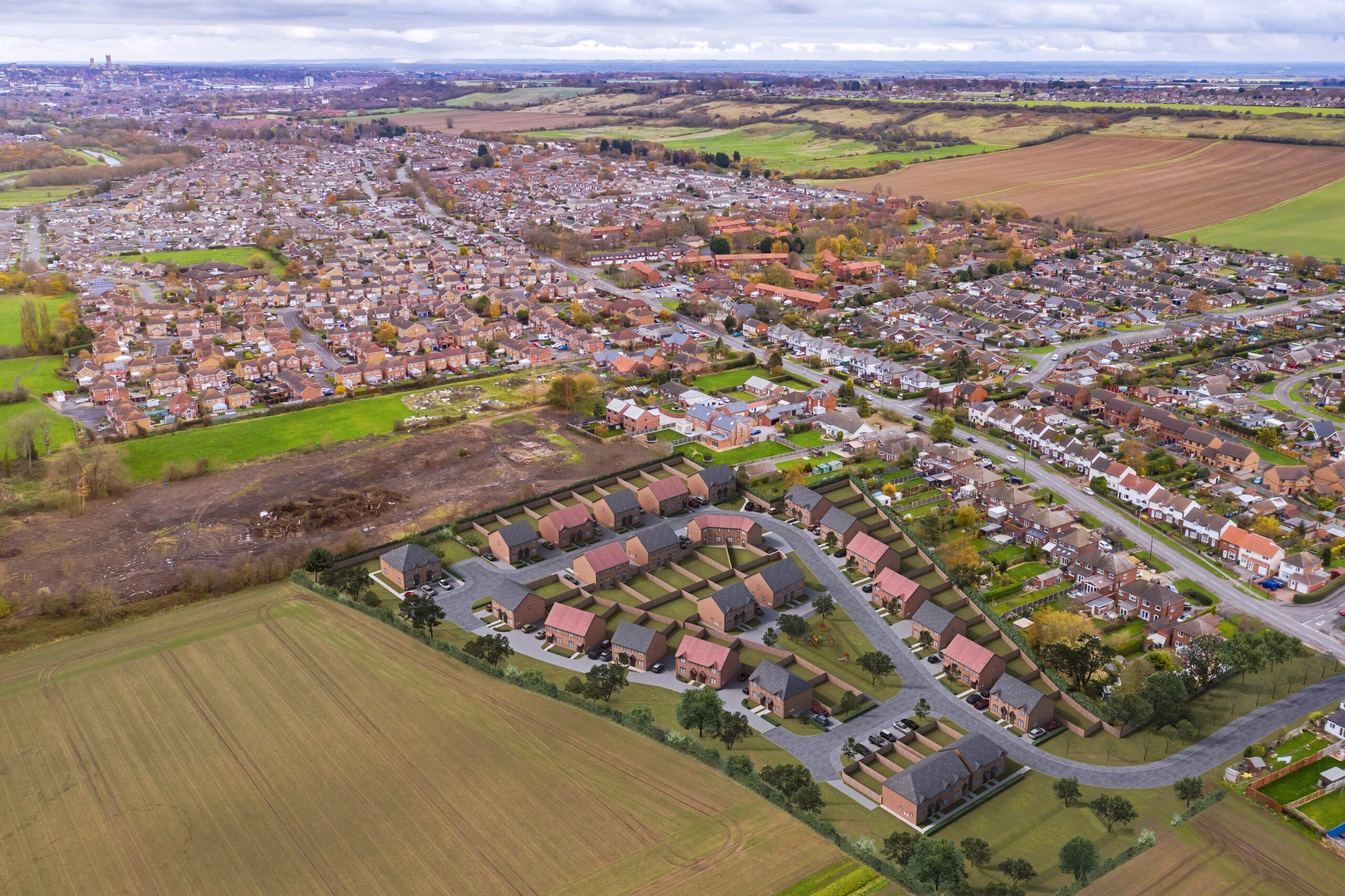 Plans to regenerate disused land with new development of affordable homes