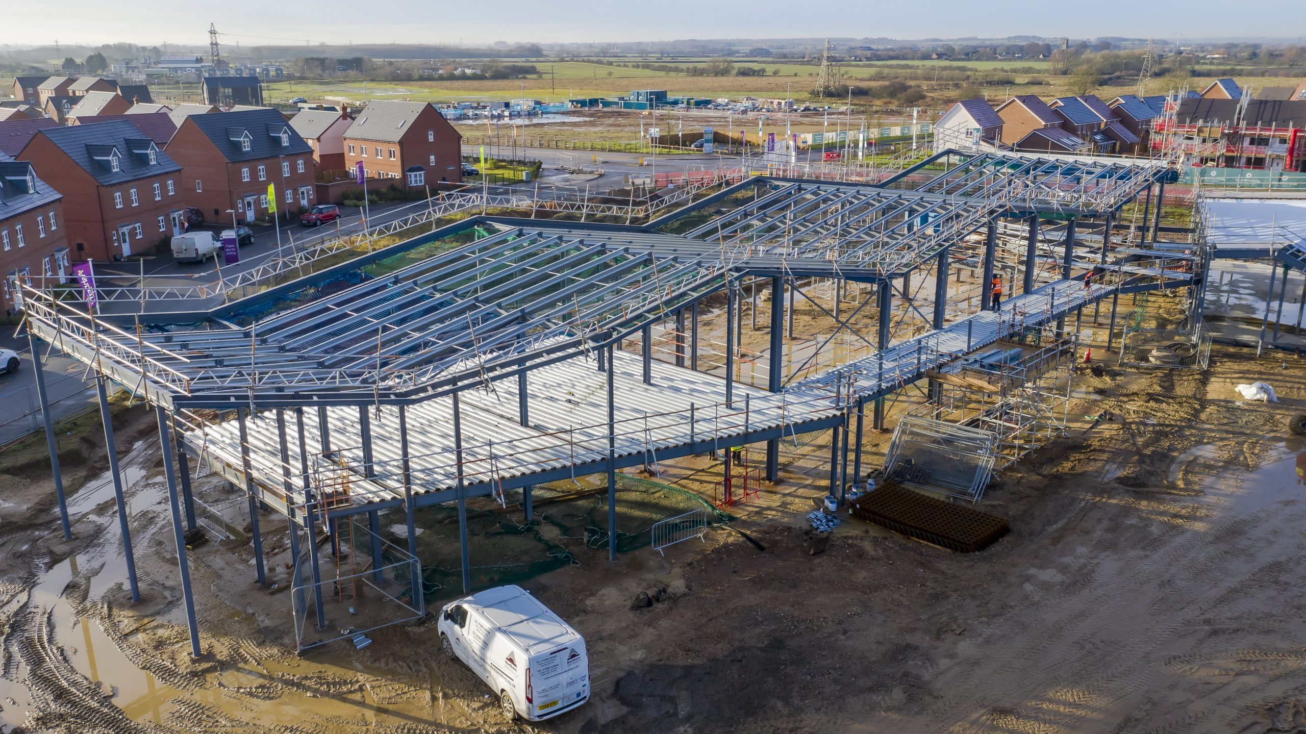 New school structure begins to take shape