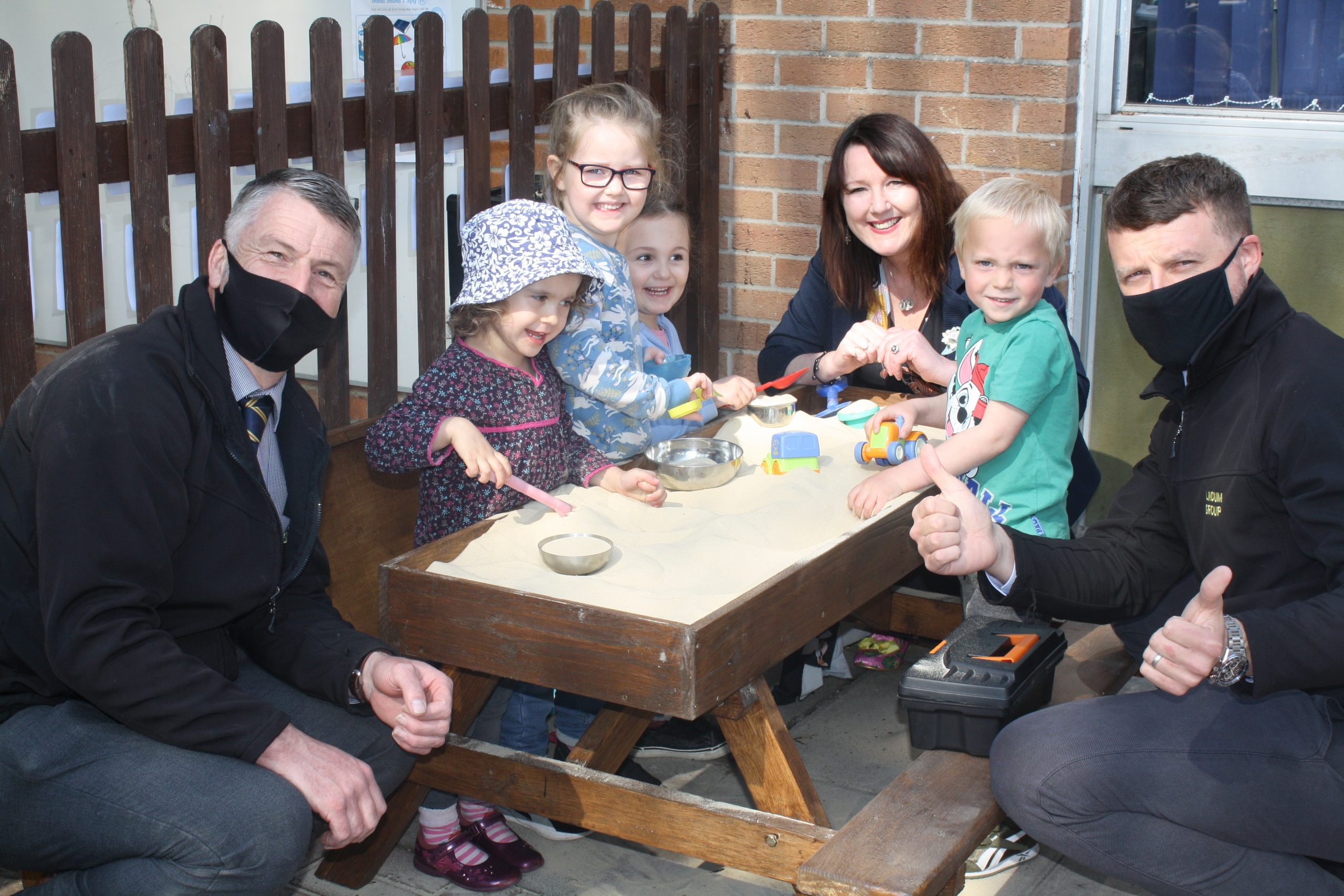 Donation to preschool after new council homes are completed