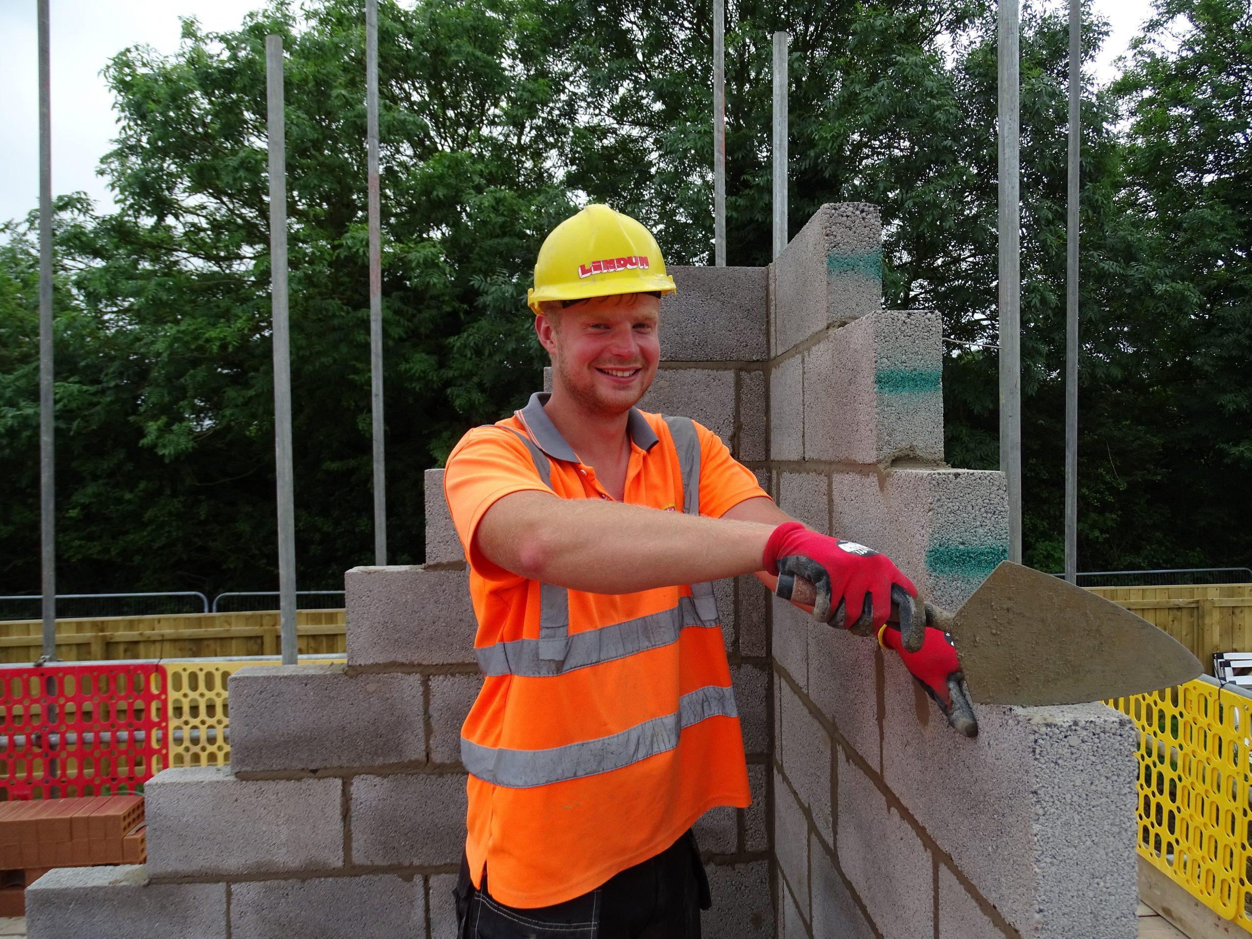 Our bricklayer's Scott talent!