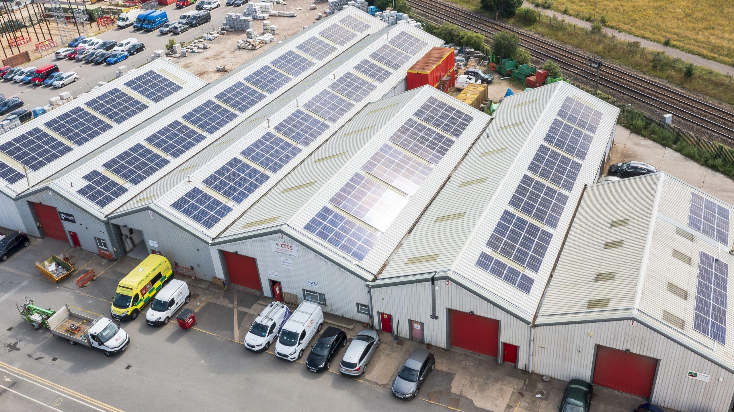 Solar panel investment at Lindum Business Park